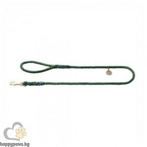 Hunter Повод за куче List - въже в цвят маслина, 140 см