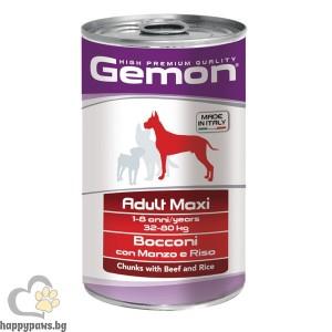 GEMON - консерва хапки DOG Adult Maxi 1.25 kg - телешко и ориз /куче/