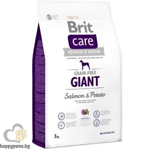 Brit - Care Grain Free Adult Giant Salmon and Potato суха храна за кучета, над 12 месеца, от гигантски породи, без глутен, със сьомга и картофи