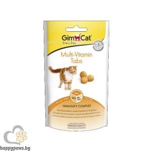 GimCat Multi-Vitamin Tabs - Мулти-витаминни таблетки за котки, 40 гр