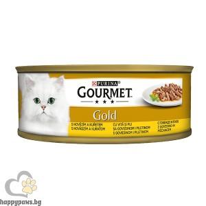 Gourmet - Gold Double Pleasure говеждо и пиле