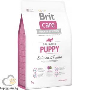 Brit - Care Grain Free Puppy Salmon and Potato суха храна за кучета, от 4 седмици до 12 месеца, без глутен, със сьомга и картофи