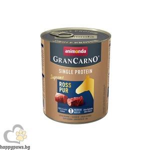 GranCarno SP Supreme Pure Horse 800 гр - консерва за кучета от чисто конско месо, един източник на протеин