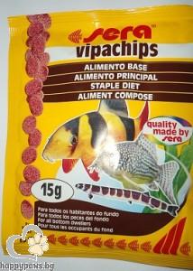 sera - Vipachips - храна за придънни рибки, 15 гр.