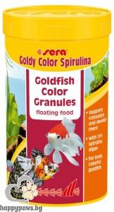 sera - Goldy color spirulina - храна за златни рибки, оцветяваща, 3.8 кг.