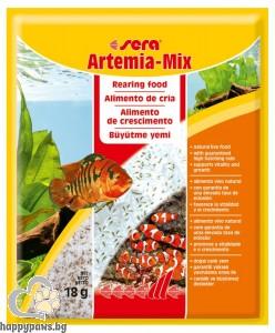 sera - Artemia mix - храна за новоизлюпени и растящи рибки, 18 гр.