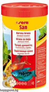 sera - San - храна за подсилване на цветовете при рибките, 12 гр.