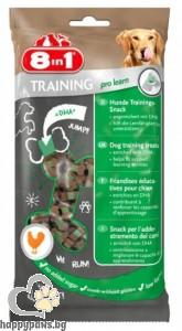 8in1 - Minis training prolearn - лакомство за кучета с пилешко месо, 100 гр.