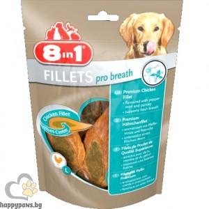 8in1 - Пилешки филенца Pro Breath S, за свеж дъх