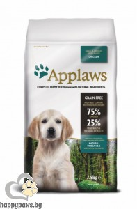 Applaws - Puppy Small Medium Breeds суха храна за кучета, малки и средни породи от 1 до 12 месеца, 2 кг. с пилешко