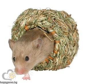 TRIXIE - Гнездо сламено, единично, за хамстери, мишки, джербили, Ф 10 см
