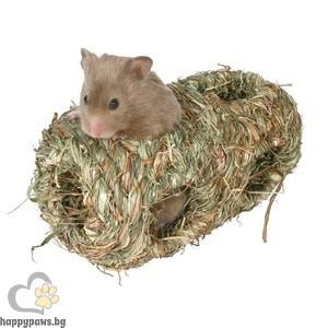 TRIXIE - Гнездо сламено, двойно, за хамстери, мишки, джербили, Ф10 х 19 см