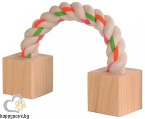 TRIXIE - Въже с дървени кубчета