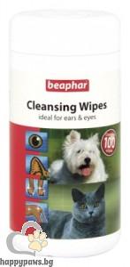Beaphar - Cleaning Wipes почистващи кърпички за очи и уши, 100 бр.
