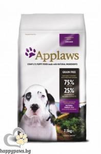 Applaws - Puppy Large Breeds суха храна за кучета големи и гигантски породи от 1 до 18 месеца, 7.5 кг. с пилешко