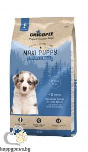 Chicopee - Classic Nature Puppy Maxi суха храна за малки кученца от едри породи с птиче и просо, 15 кг.