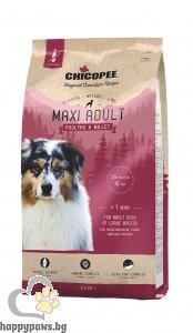 Chicopee - Classic Nature Adult Maxi суха храна за израснали кучета от едри породи с птиче и просо, 15 кг