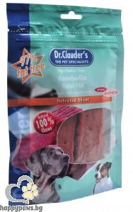 Dr. Clauders - Filet кучешко лакомство, меки ленти от филе, различни вкусове, 80 гр.