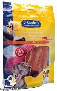 Dr. Clauders - Filet Strips Pre biotik кучешко лакомство, меки ленти, различни вкусове, 80 гр.