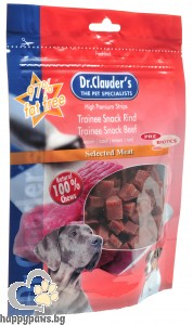 Dr. Clauders - Trainee Snack кучешко лакомство, кубчета от месо, различни вкусове, 80 гр.