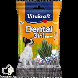 Vitakraft - Dental 3in1 Fresh ExtraSmall лакомства с мента за устната хигиена на кучета от мини породи, 7 бр.