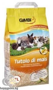 Gimbi - Царевична постеля за гризачи с аромат на лимон 7 л.