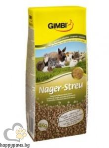 Gimbi - Постеля за гризачи от пресована пшенична слама, 4 кг.