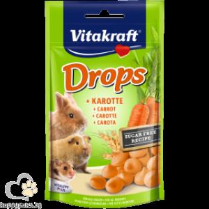 Vitakraft - Carrot Drops Лакомства за гризачи бонбони с моркови, 75 гр.