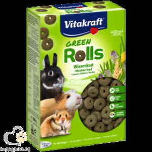 Vitakraft - Green Rolls тревна храна с люцерна за гризачи, 300 гр.
