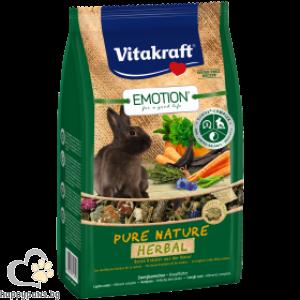Vitakraft - Emotion Pure Nature Храна за декоративни мини зайчета, 600 гр.
