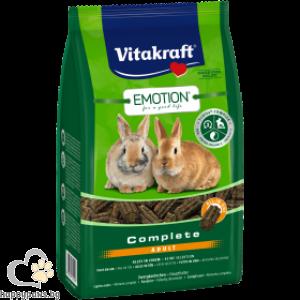 Vitakraft - Emotion Complete Adult Храна за възрастни декоративни мини зайчета над 6 месеца, 800 гр.