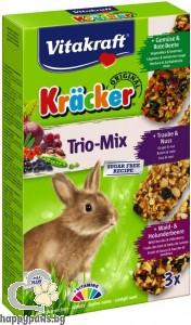Vitakraft - Крекер за декоративни мини зайчета с горски плодове, мед и пуканки, 3 бр.