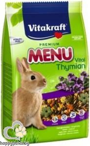 Vitakraft - Premium Menu Vital Храна за декоративни зайци с мащерка, 1 кг.