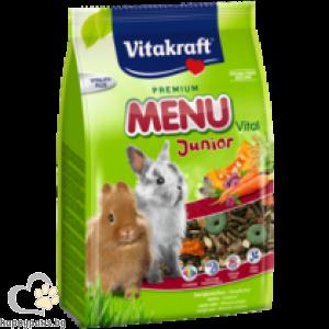 Vitakraft - Premium Menu Junior Храна за декоративни зайчета бебета, 500 гр.