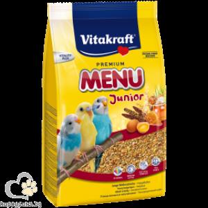 Vitakraft - Premium Menu Junior Храна за вълнисти папагали бебета, 500 гр