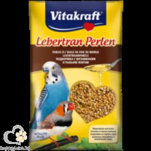 Vitakraft - Perlen витаминозни перли за папагали с рибено масло, 20 гр.