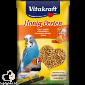 Vitakraft - Perlen витаминозни перли за папагали с мед, 20 гр.