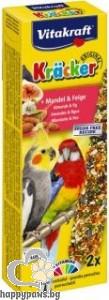 Vitakraft - Крекер за средни папагали, 2 бр. различни вкусове