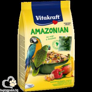 Vitakraft - Amazonian Основна ежедневна храна за големи, южноамерикански папагали, 750 гр