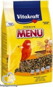 Vitakraft - Premium Menu Vital Храна за канарчета с мед, 500 гр