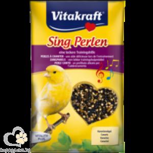 Vitakraft - Perlen Витаминозни перли за птици канарчета за глас и песен, 20 гр.