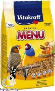 Vitakraft - Premium Menu Exotis Храна за птици финки и екзотични, 500 гр