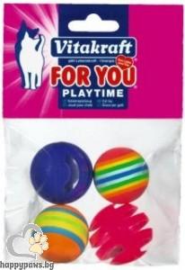Vitakraft - For You Играчки за котки - 2 звънчета и 2 топки