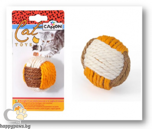 Camon - Играчка за котета - Тъканa топка от сезал