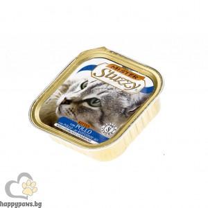Stuzzy - Mister Cat Chicken Kitten пастет с пилешко месо, за малки котенца от 1 до 12 месеца, 100 гр.