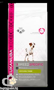 Eukanuba - BREED SPECIFIC FORMULAS Jack russel terrier пълноценна суха храна за Джак Ръсел Териер, 2 кг.