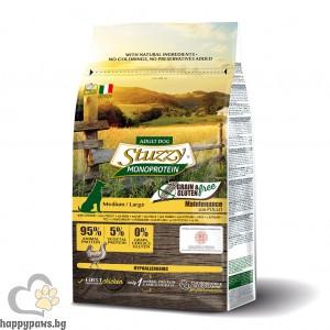 Stuzzy - Monoprotein Grain Free Medium / Large пълноценна суха храна без глутен, за кучета от средни и големи породи, различни вкусове, 12 кг.
