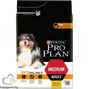 PURINA PRO PLAN - OPTBALANCE суха храна за кучета в зряла възраст от средни породи, с вкус на пиле, 3 кг.