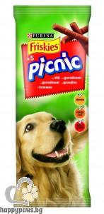 Friskies - Picnic деликатесно лакомство за кучета, различни вкусове, 42 гр.