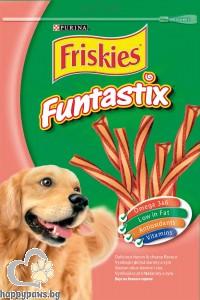 Friskies - Funtastix лакомство за кучета с бекон и сирене, 180 гр.